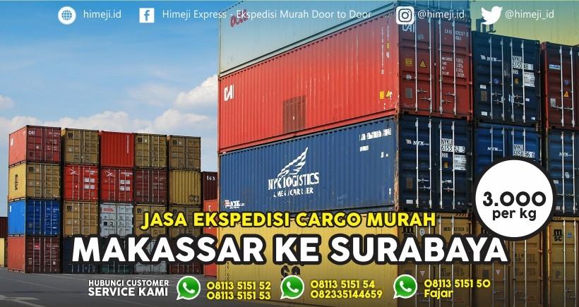 Jasa Ekspedisi Cargo Murah Makassar Surabaya