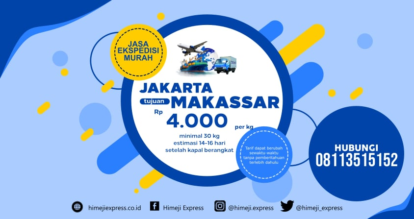 Ekspedisi Murah Jakarta ke Makassar yang Amanah
