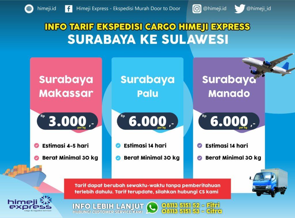 Jasa Ekspedisi Cargo Murah Surabaya Makassar