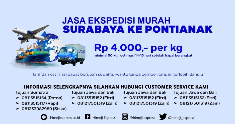 Jasa_Ekspedisi_Murah_Surabaya_ke_Pontianak