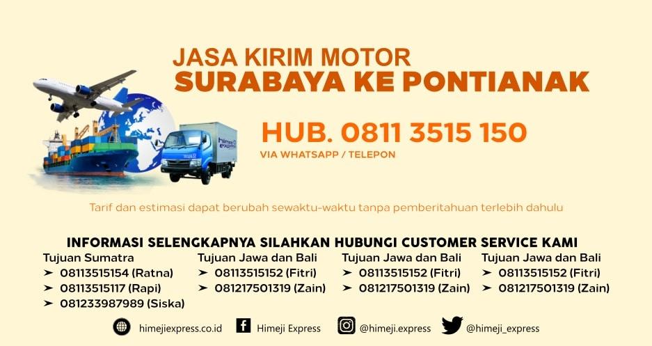Jasa_Kirim_Motor_Surabaya_ke_Pontianak
