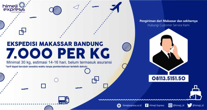 Ekspedisi Makassar Bandung Murah 7.000 per kg