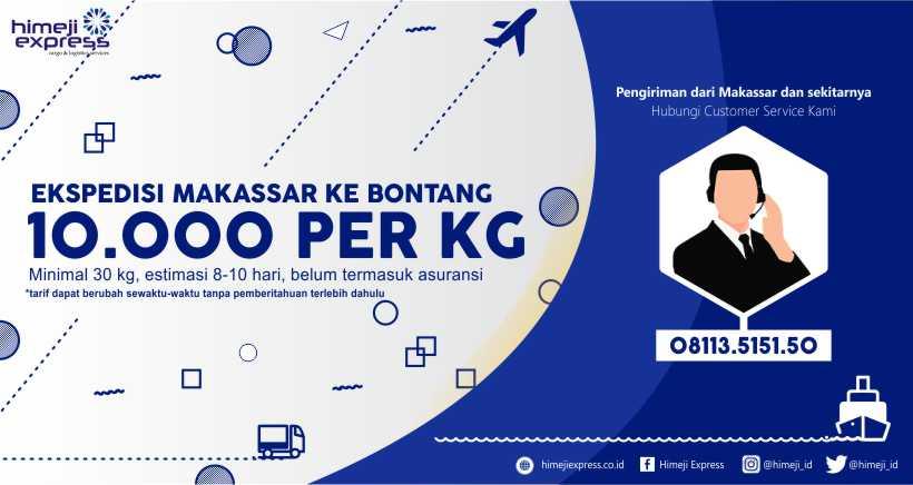 Ekspedisi Makassar tujuan Bontang, Kalimantan Timur