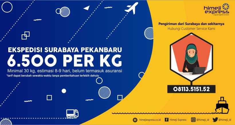 Ekspedisi Murah Surabaya ke Pekanbaru