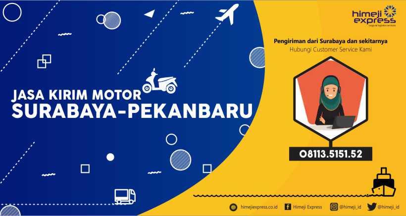 Jasa Pengiriman Motor dari Surabaya ke Pekanbaru