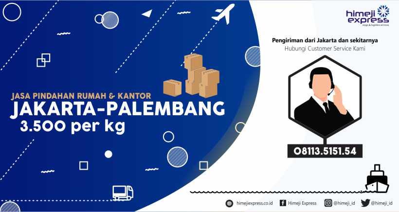 Jasa Pindahan Jakarta tujuan Palembang
