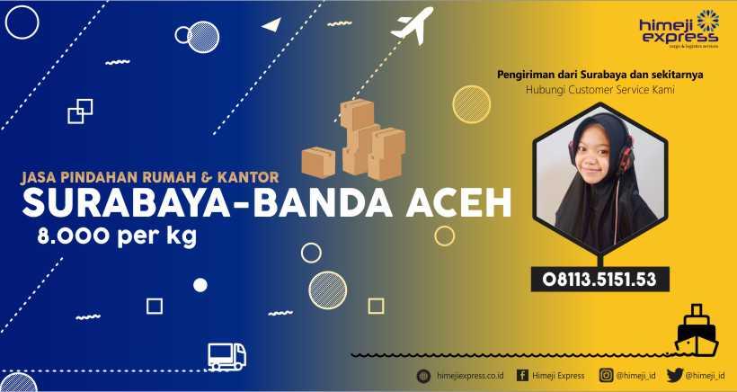 Jasa Pindahan Surabaya ke Banda Aceh