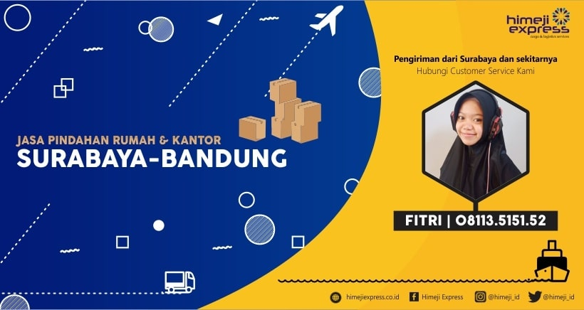 Jasa Pindahan Rumah dan Kantor Surabaya Bandung