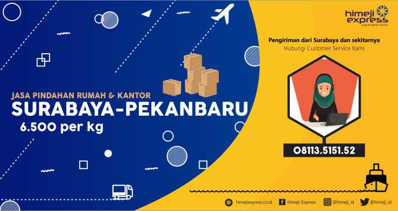 Jasa Kirim Barang Pindahan Surabaya ke Pekanbaru