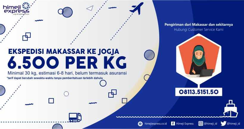 Ekspedisi Cargo Makassar tujuan Jogja, Daerah Istimewa Yogyakarta