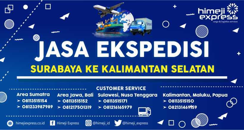 Jasa Ekspedisi Surabaya tujuan Kalimantan Selatan