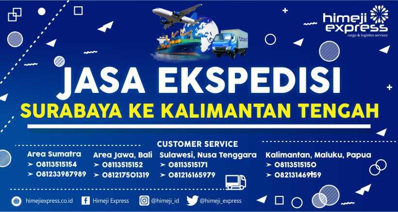 Ekspedisi Murah Surabaya tujuan Kalimantan Tengah