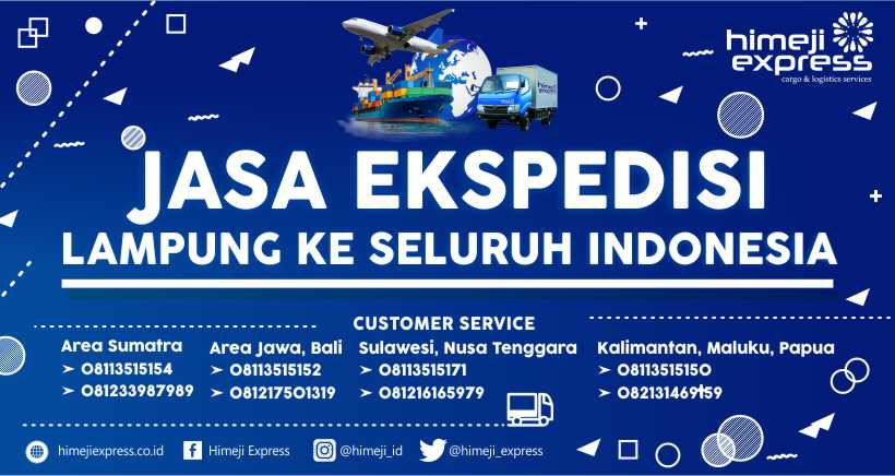 Jasa Ekspedisi Cargo Lampung ke Seluruh Indonesia