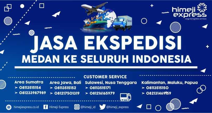 Jasa Ekspedisi Cargo Medan ke Seluruh Indonesia