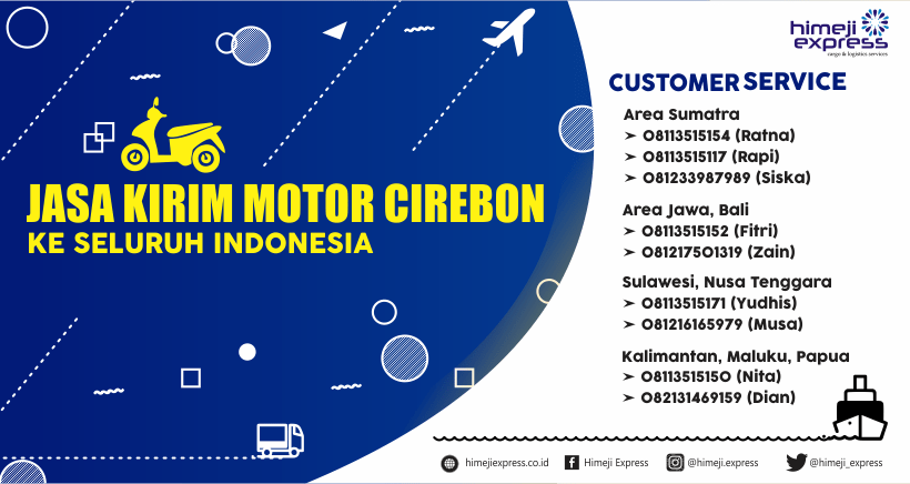 Jasa Kirim Motor Cirebon ke Seluruh Indonesia
