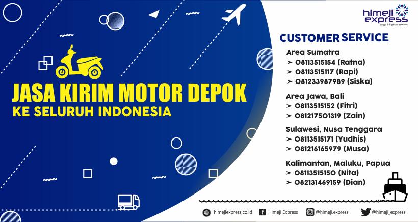 Jasa Kirim Motor Depok ke Seluruh Indonesia