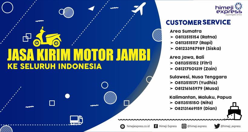 Jasa Kirim Motor Jambi ke Seluruh Indonesia