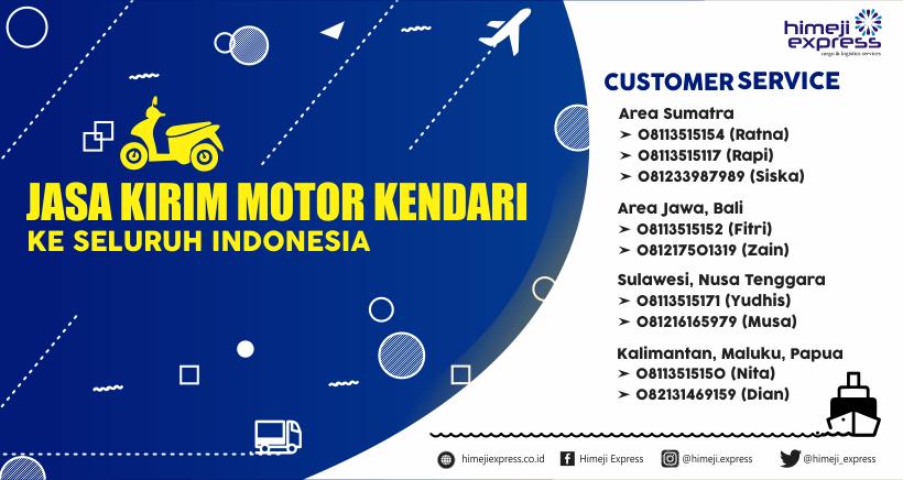 Jasa Kirim Motor Kendari ke Seluruh Indonesia