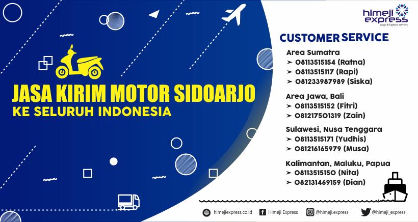 Jasa Kirim Motor Sidoarjo ke Seluruh Indonesia