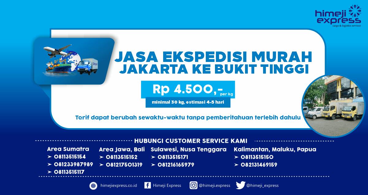 Ekspedisi Cargo Jakarta ke Bukittinggi