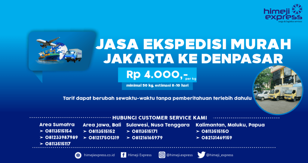Ekspedisi Cargo Jakarta ke Denpasar