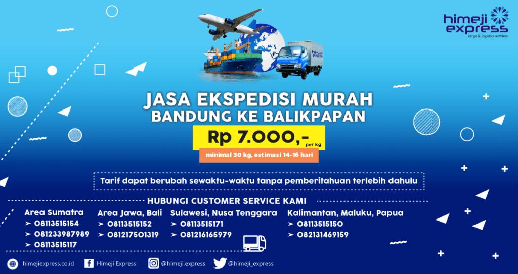 Ekspedisi Cargo Bandung ke Balikpapan Murah
