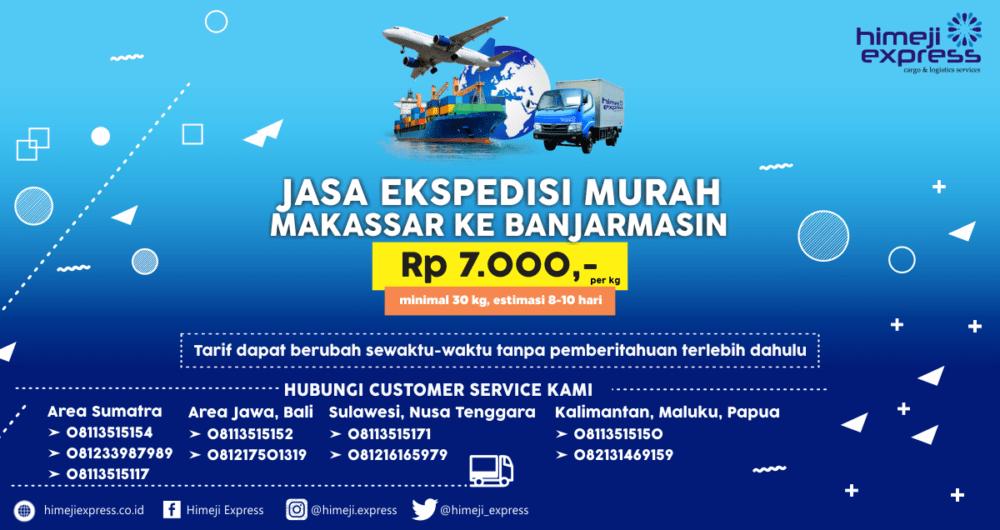 Ekspedisi Makassar Banjarmasin Murah