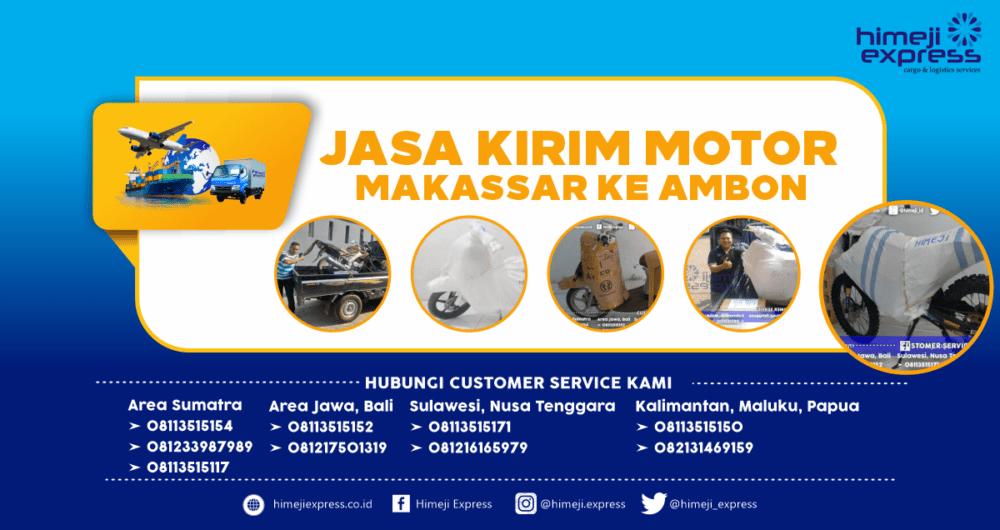 Jasa Kirim Motor Makassar-Ambon yang Murah