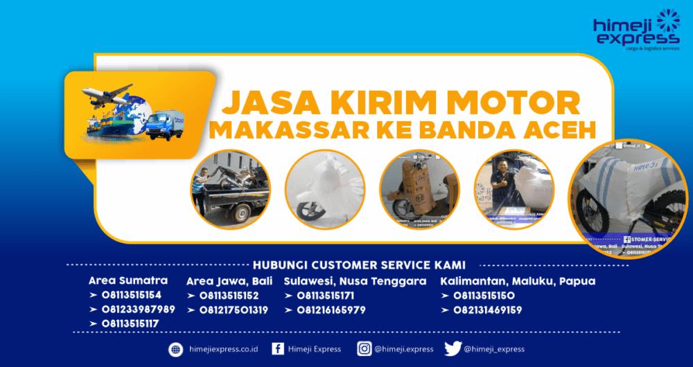 Jasa Kirim Motor Makassar-Banda Aceh yang Murah