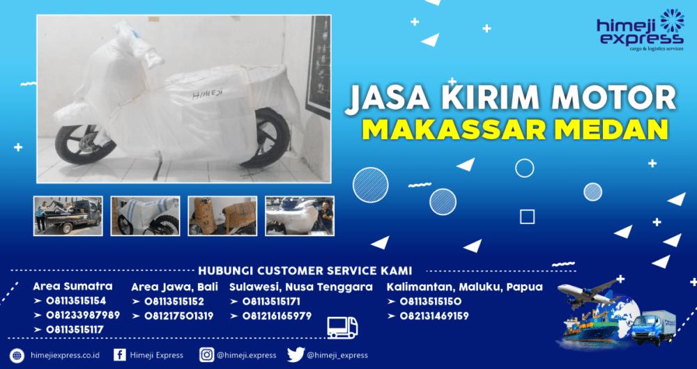 Jasa Kirim Motor Makassar-Medan yang Murah