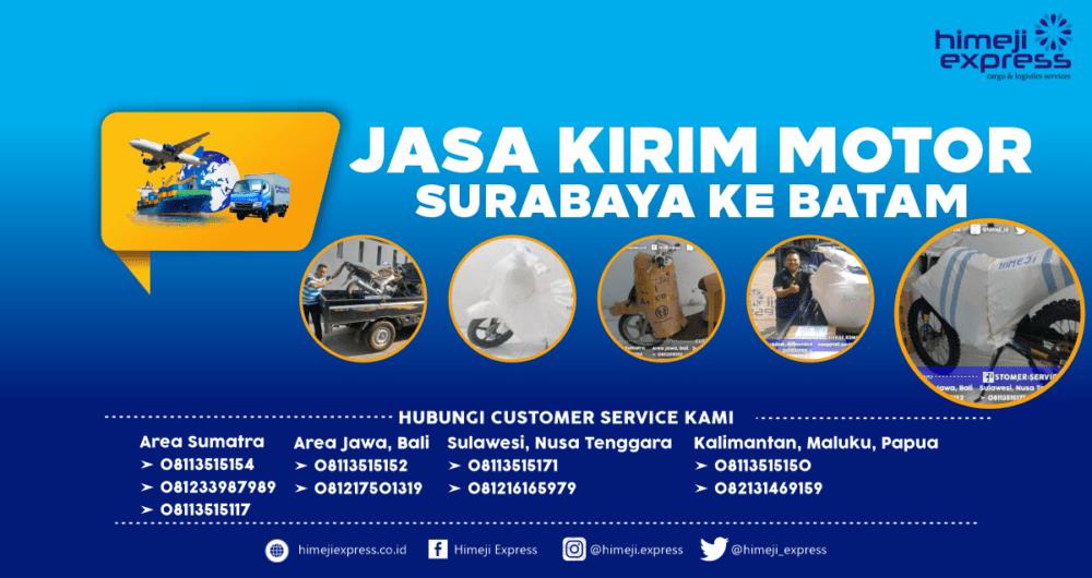 Jasa Kirim Motor Surabaya-Batam Murah
