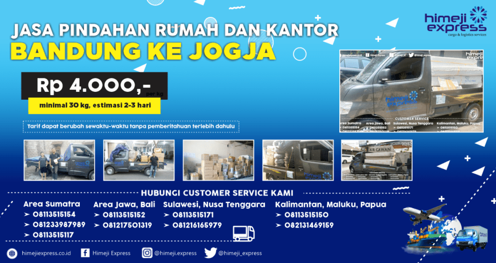 Jasa Pindahan Rumah dan Kantor dari Bandung ke Jogja yang Murah