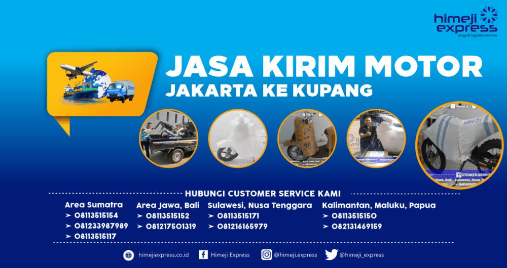 Jasa Kirim Motor Jakarta ke Kupang yang Murah