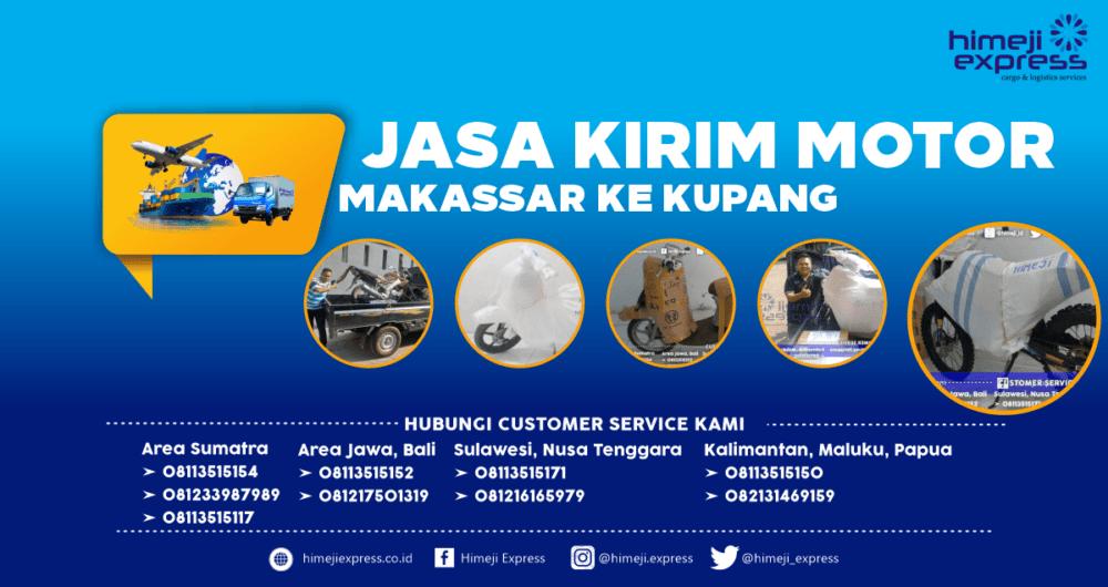 Jasa Kirim Motor Makassar ke Kupang yang Murah