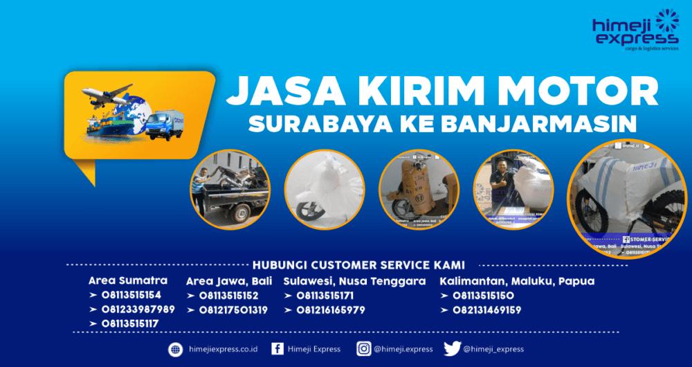 Jasa Kirim Motor Surabaya ke Banjarmasin Murah