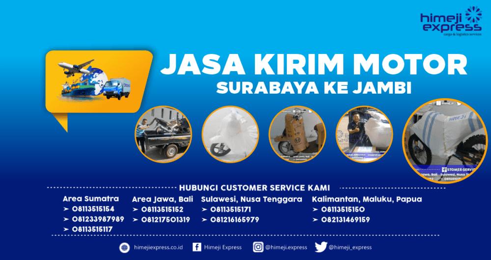 Jasa Kirim Motor Surabaya ke Jambi Murah
