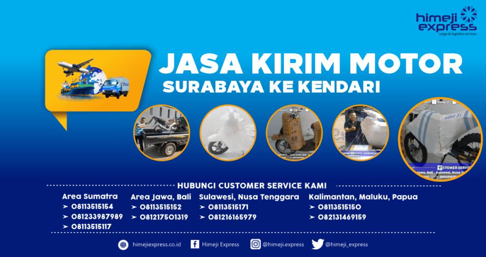 Jasa Kirim Motor Surabaya ke Kendari Murah