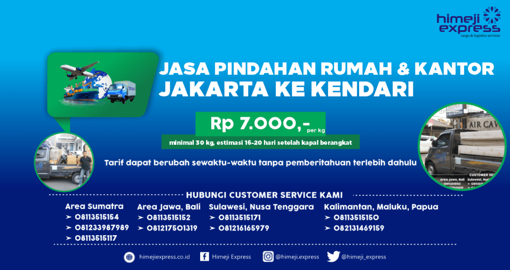Jasa Pindahan Jakarta ke Kendari