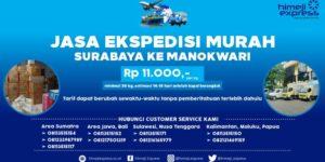 Ekspedisi Murah Surabaya ke Manokwari