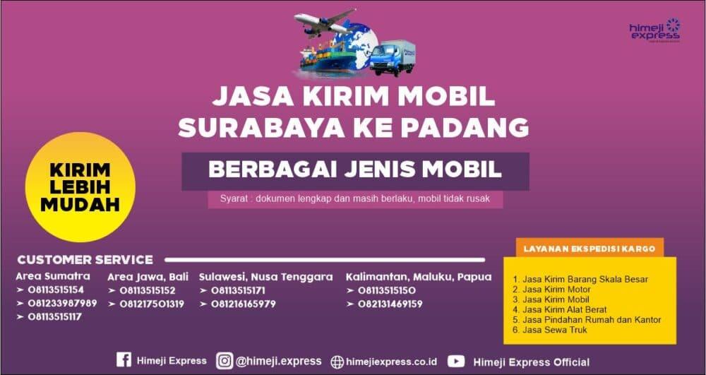 Jasa Kirim Mobil Surabaya ke Padang