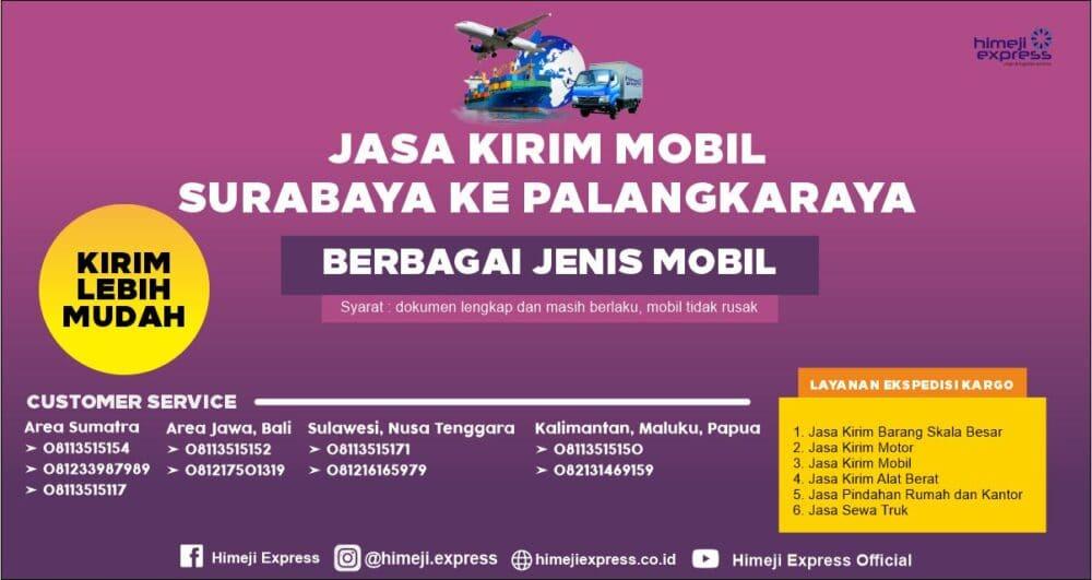 Jasa Kirim Mobil Surabaya ke Palangkaraya