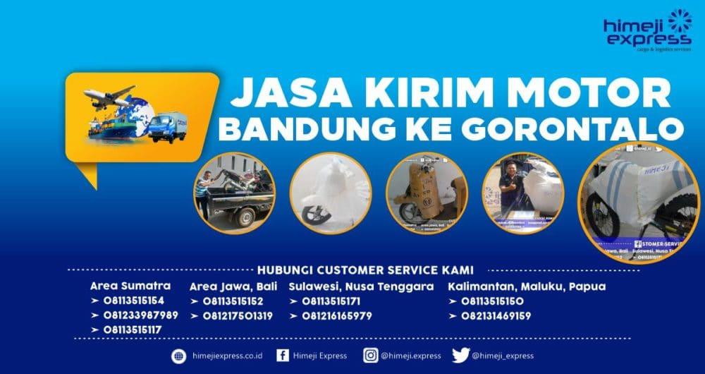 Jasa Pengiriman Motor Bandung ke Gorontalo