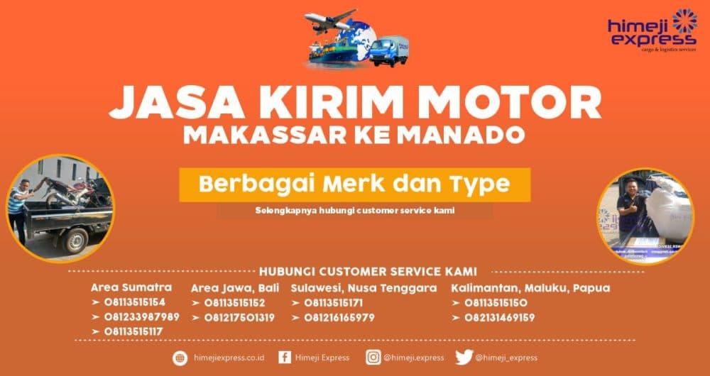 Jasa Kirim Motor Makassar ke Manado