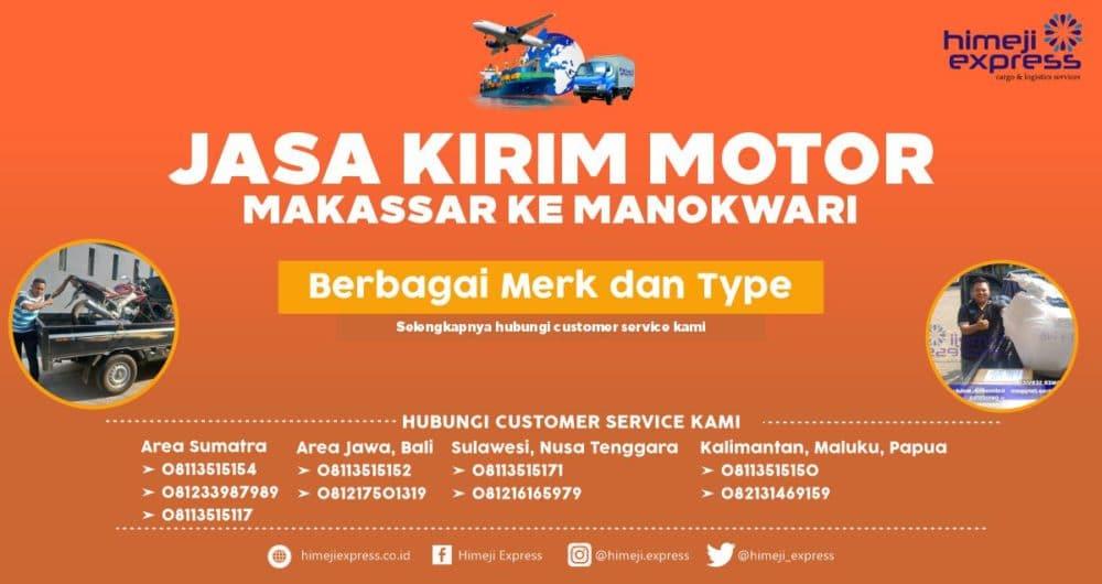 Jasa Kirim Motor Makassar ke Manokwari
