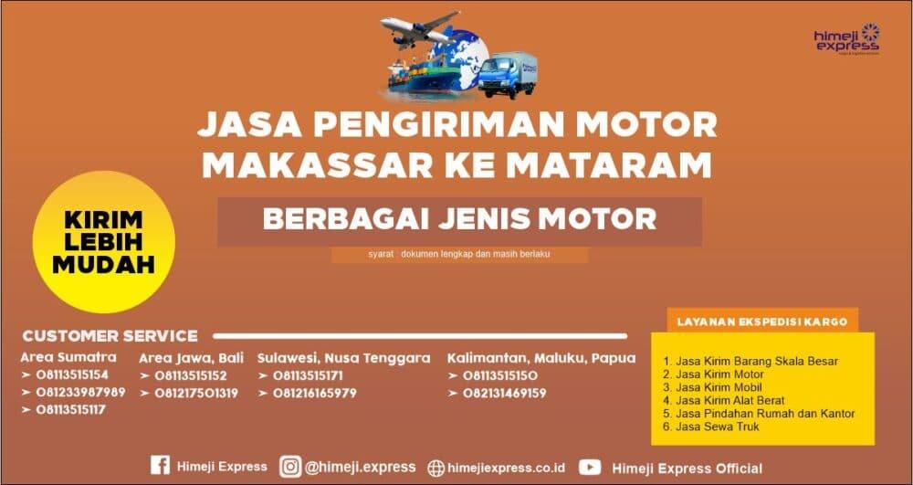 Jasa Kirim Motor Makassar ke Mataram