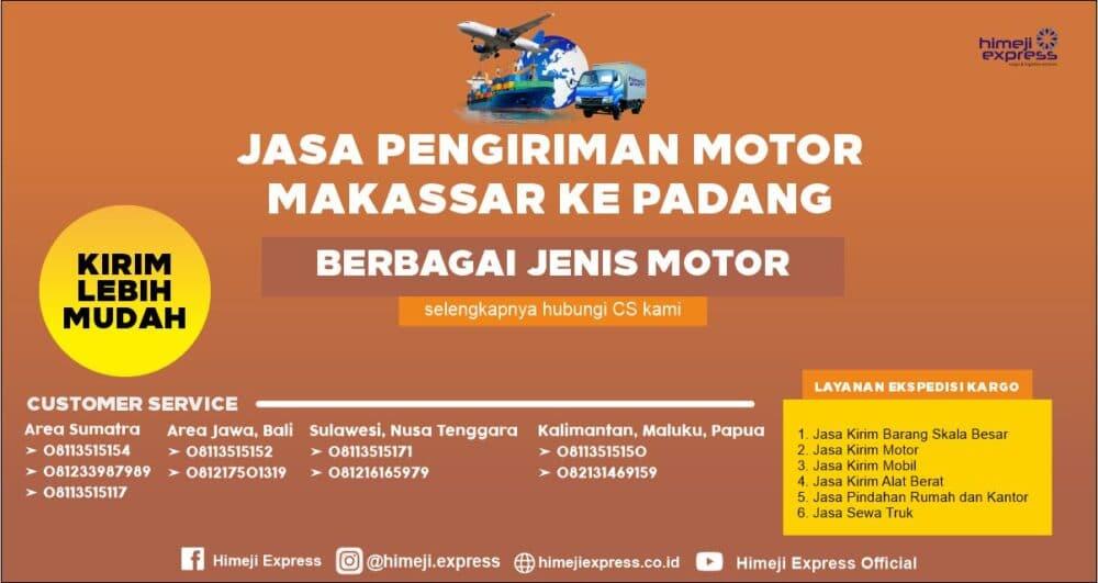 Jasa Kirim Motor Makassar ke Padang