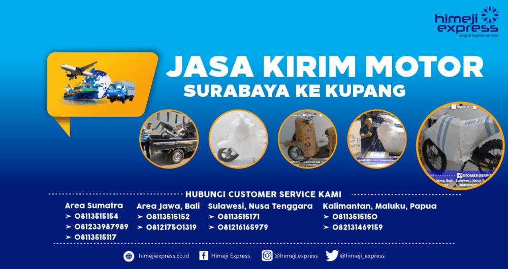 Jasa Kirim Motor Surabaya ke Kupang Murah