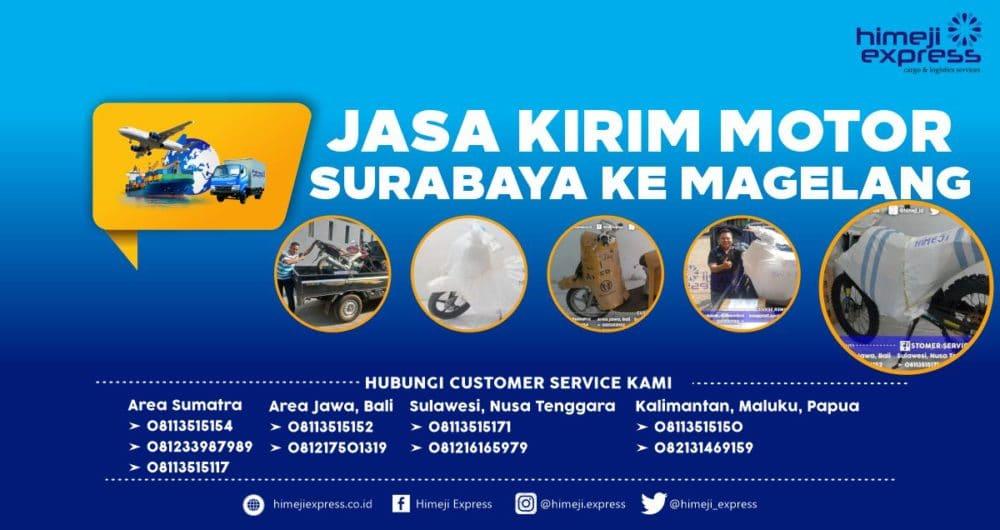 Jasa Kirim Motor Surabaya ke Magelang yang Murah