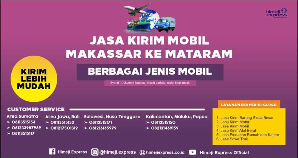 Jasa Pengiriman Mobil Makassar ke Mataram