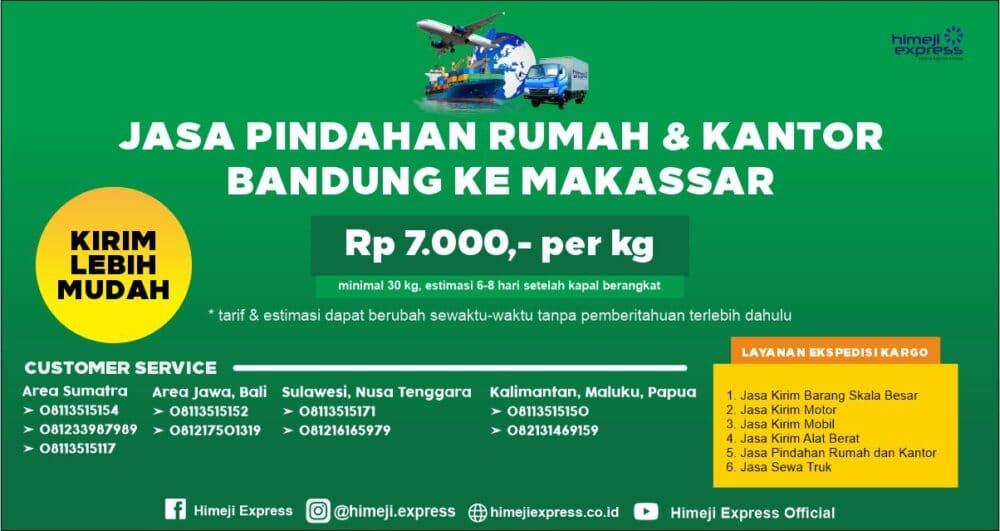 Jasa Pindahan Rumah dan Kantor Bandung ke Makassar